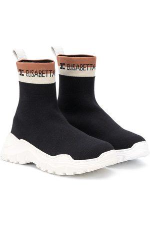 Elisabetta Franchi La Mia Bambina Logo band sock sneakers