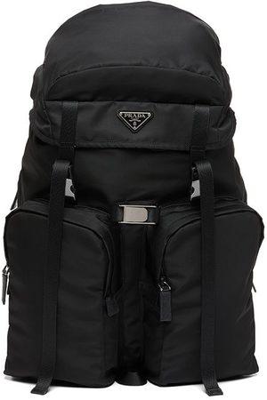 Prada Logo plaque backpack