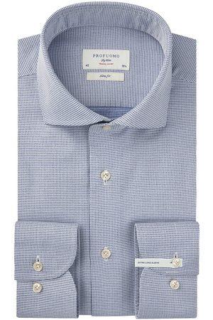 Profuomo Heren Overhemden - Navy travel overhemd extra lange mouw heren