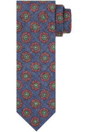 Profuomo Heren Stropdassen - Blauwe bloemenprint stropstropdas heren