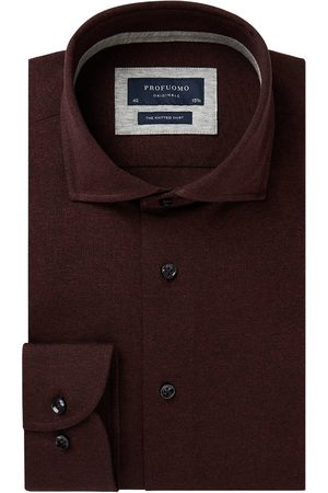 Profuomo Bordeaux knitted overhemd Originale heren