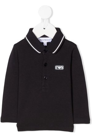Emporio Armani Logo-patch long-sleeve polo