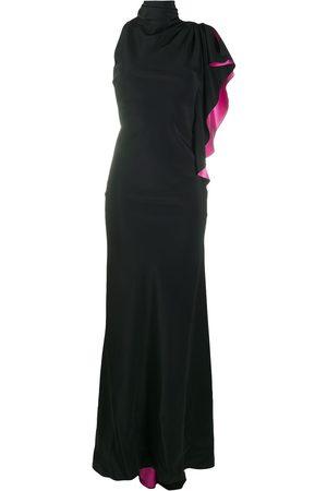 Redemption Asymmetric sleeve ruffle dress