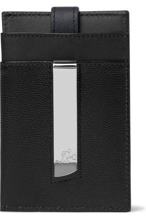 WANT LES ESSENTIELS Pebble-Grain Leather Cardholder with Money Clip