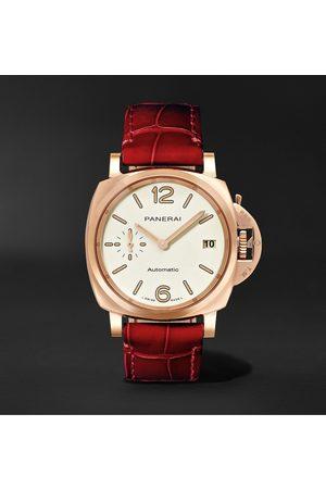 PANERAI Heren Horloges - Luminor Due Automatic 38mm Goldtech and Alligator Watch