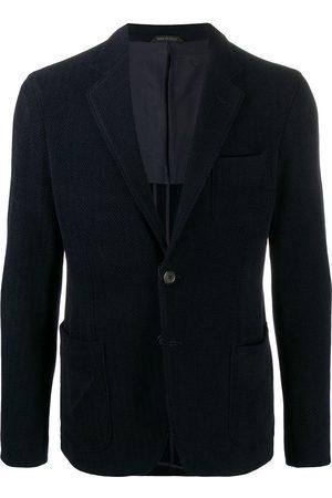 Armani Herringbone single-breasted blazer