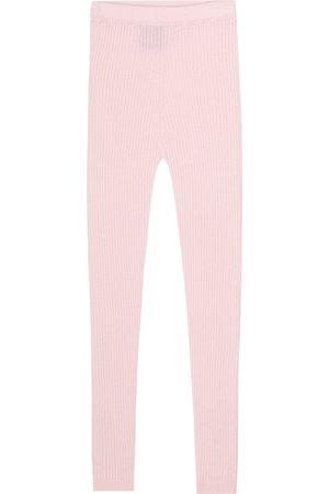 Loro Piana Ribbed-knit cashmere leggings