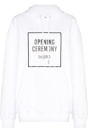 Opening Ceremony Box logo cotton hoodie