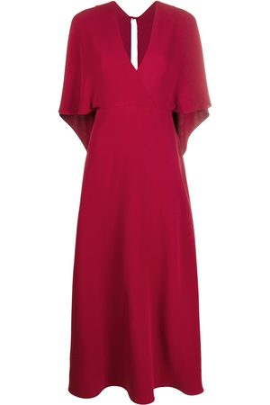 VALENTINO Deep V-neck maxi dress