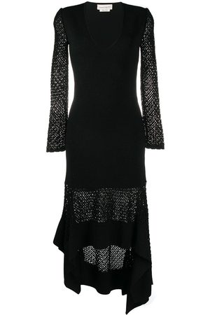 Alexander McQueen High-low hem V-neck dress