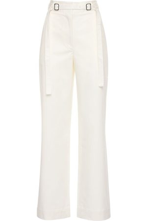 PROENZA SCHOULER WHITE LABEL Cotton Twill Belted Pants
