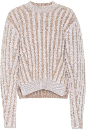 Chloé Dames Sweaters - Cable knit wool and mohair-blend sweater