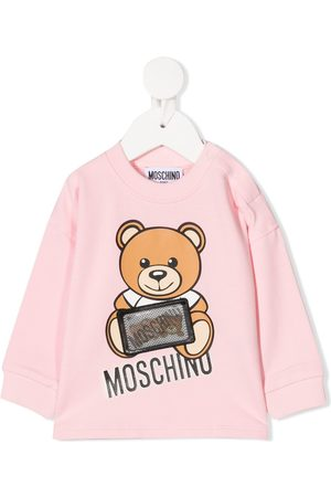 Moschino Hologram logo patch sweatshirt