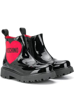 Moschino Heart-logo rain boots