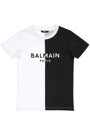 Balmain Color Block Cotton Jersey T-shirt