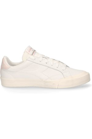 Diadora Dames Lage sneakers - Melody Leather Dirty Wit/Roze