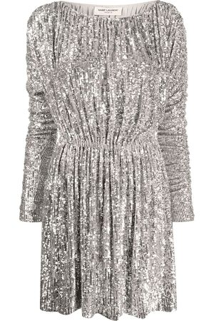 Saint Laurent Sequin-embellished dress