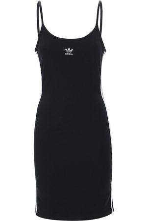 adidas Dames Jurken - Logo Stretch Cotton Dress