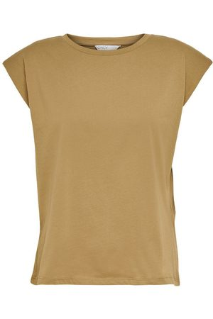 Only Loose Fit T-shirt Dames Bruin