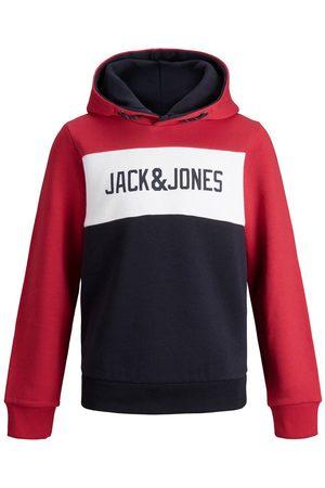 Jack & Jones Heren Hoodies - Jongens Logo Sweat Hoodie Heren Rood