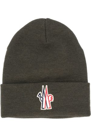 Moncler Heren Mutsen - Logo patch virgin wool beanie