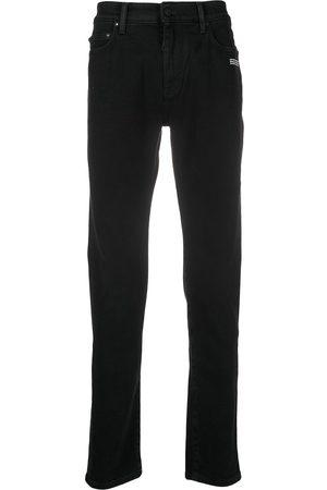 OFF-WHITE Heren Skinny - Diagonal stripe detail skinny jeans