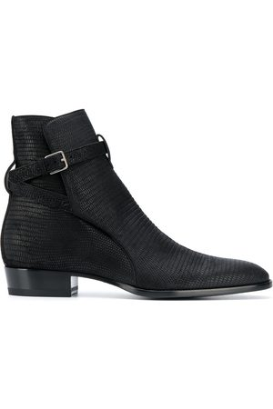 Saint Laurent Reptile effect leather ankle boots
