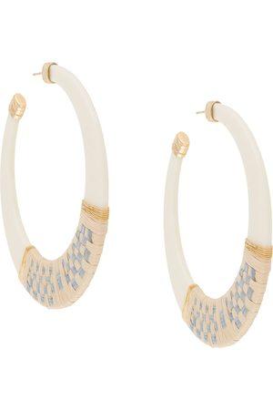 Gas Bijoux Lodge raffia hoop earrings