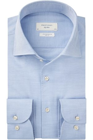 Profuomo Heren Overhemden - Lichtblauw twill overhemd Sky Blue heren