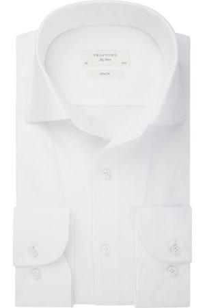 Profuomo Heren Overhemden - Single jersey knitted overhemd Sky Blue heren