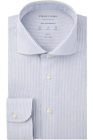 Profuomo High performance lichtblauw dobby overhemd Originale heren