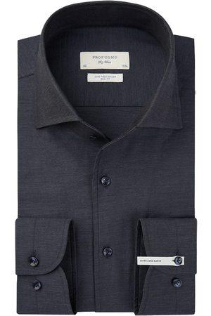 Profuomo Heren Overhemden - Navy twill overhemd extra lange mouw heren
