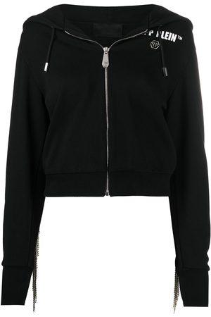 Philipp Plein Fringe detail hoodie