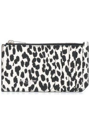Saint Laurent Leopard print zipped cardholder