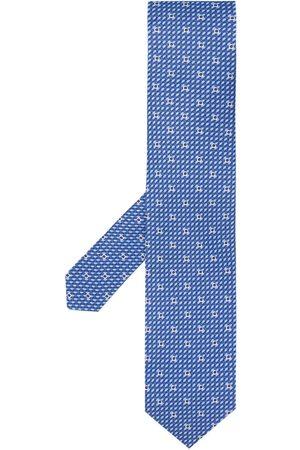 Salvatore Ferragamo Gancio woven print tie