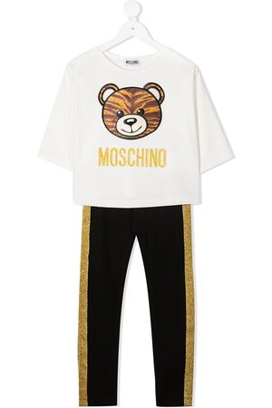 Moschino Teddy bear embroidered glitter detail tracksuit
