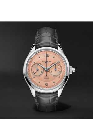 Mont Blanc Heren Horloges - Heritage Monopusher Automatic Chronograph 42mm Stainless Steel and Alligator Watch, Ref. No. 126078