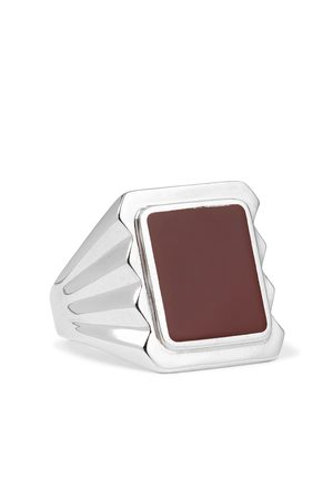 Bottega Veneta Heren Ringen - Sterling and Stone Signet Ring