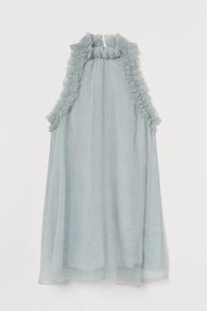 H&M A-lijnjurk met volants - Turquoise