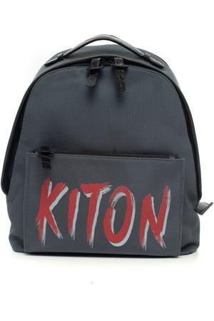 Kiton Rugzakken - Leather and cordura rucksack