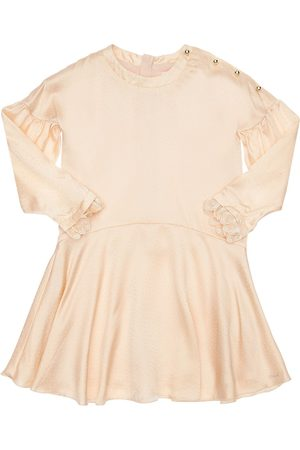 Chloé Meisjes Feestjurken - Embellished Silk Satin Party Dress