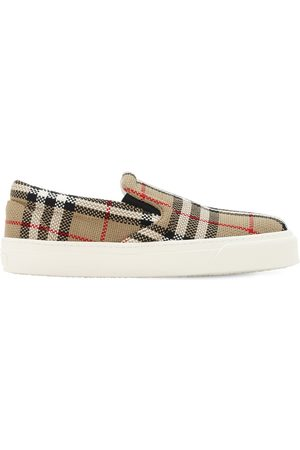 Burberry Dames Instappers - 20mm Thompson Check Slip On Sneakers