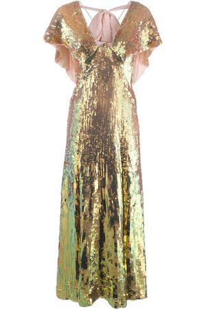TEMPERLEY LONDON Bardot sequinned iridescent gown