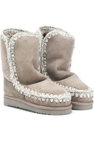 Mou TEEN suede ankle boots