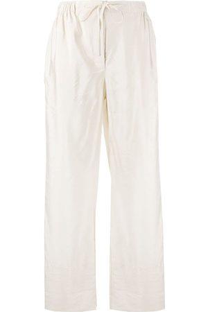 Soulland Roberta drawstring straight-leg trousers