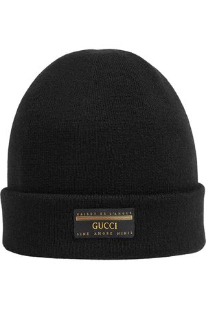 Gucci Logo patch beanie hat