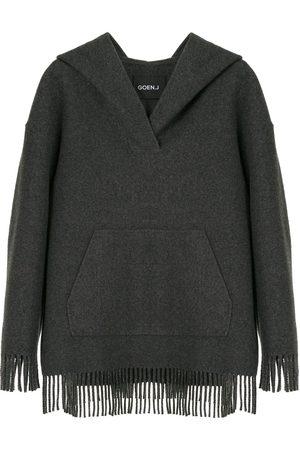 GOEN.J Fringed oversized hoodie