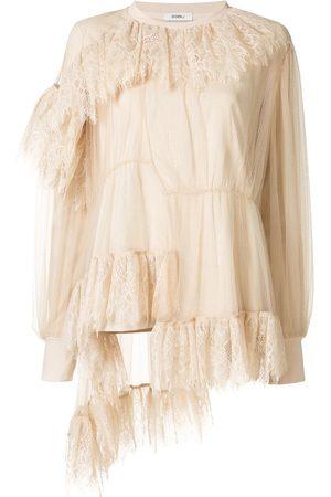 GOEN.J Ruffle asymmetric blouse