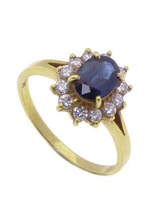 Christian Saffieren ring met diamanten