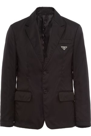 Prada Logo-plaque single-breasted blazer
